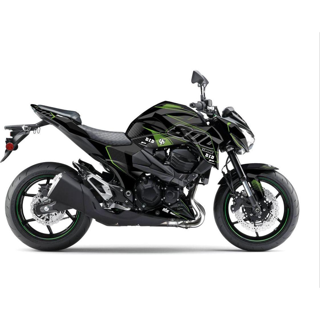 Kit déco Up Maximize noir / vert Kawasaki Z800 13-16
