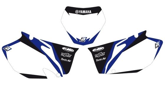 Fonds de plaques Blackbird Dream Graphic 2 Yamaha 250 YZ-F 06-08 blanc
