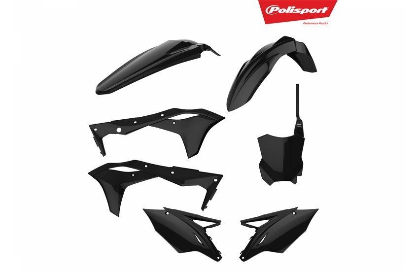 Kit plastique Polisport Kawasaki 250 KX-F 2017 noir