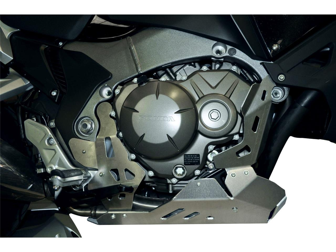 Sabot moteur Bihr aluminium gris pour Honda Crosstourer 1200 12-14