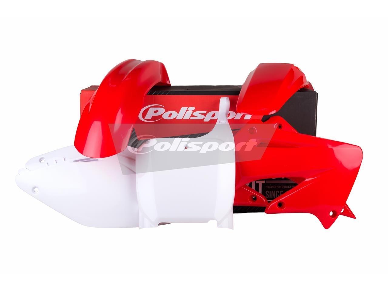 Kit plastique Polisport Honda CR 125R 02-03 (rouge/blanc origine)