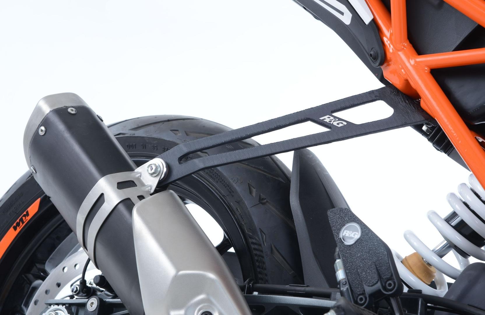Patte de fixation de silencieux R&G Racing noire KTM Duke 125 17-18