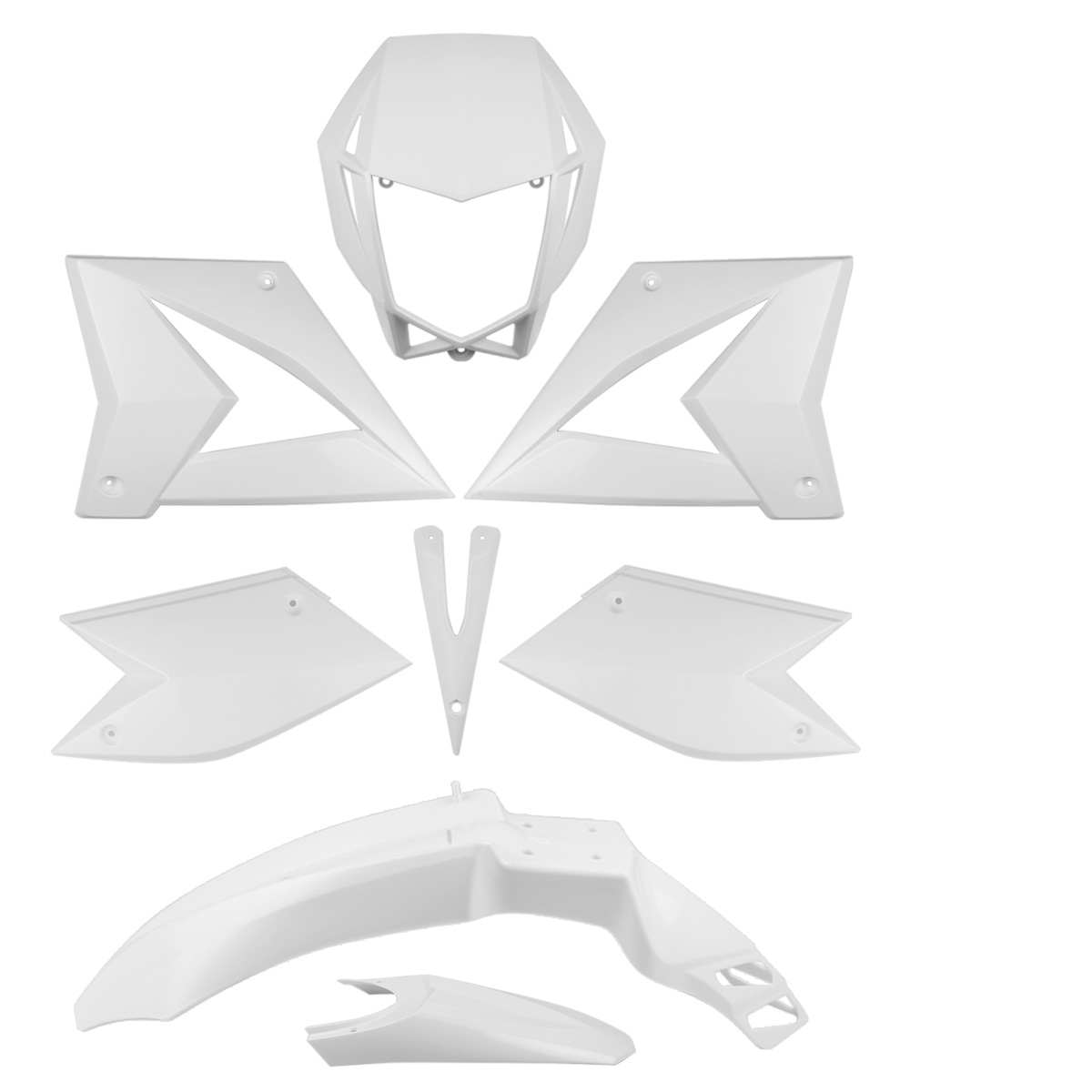 Kit carrosserie Blanc CPI SM SX 50 (8 pièces)