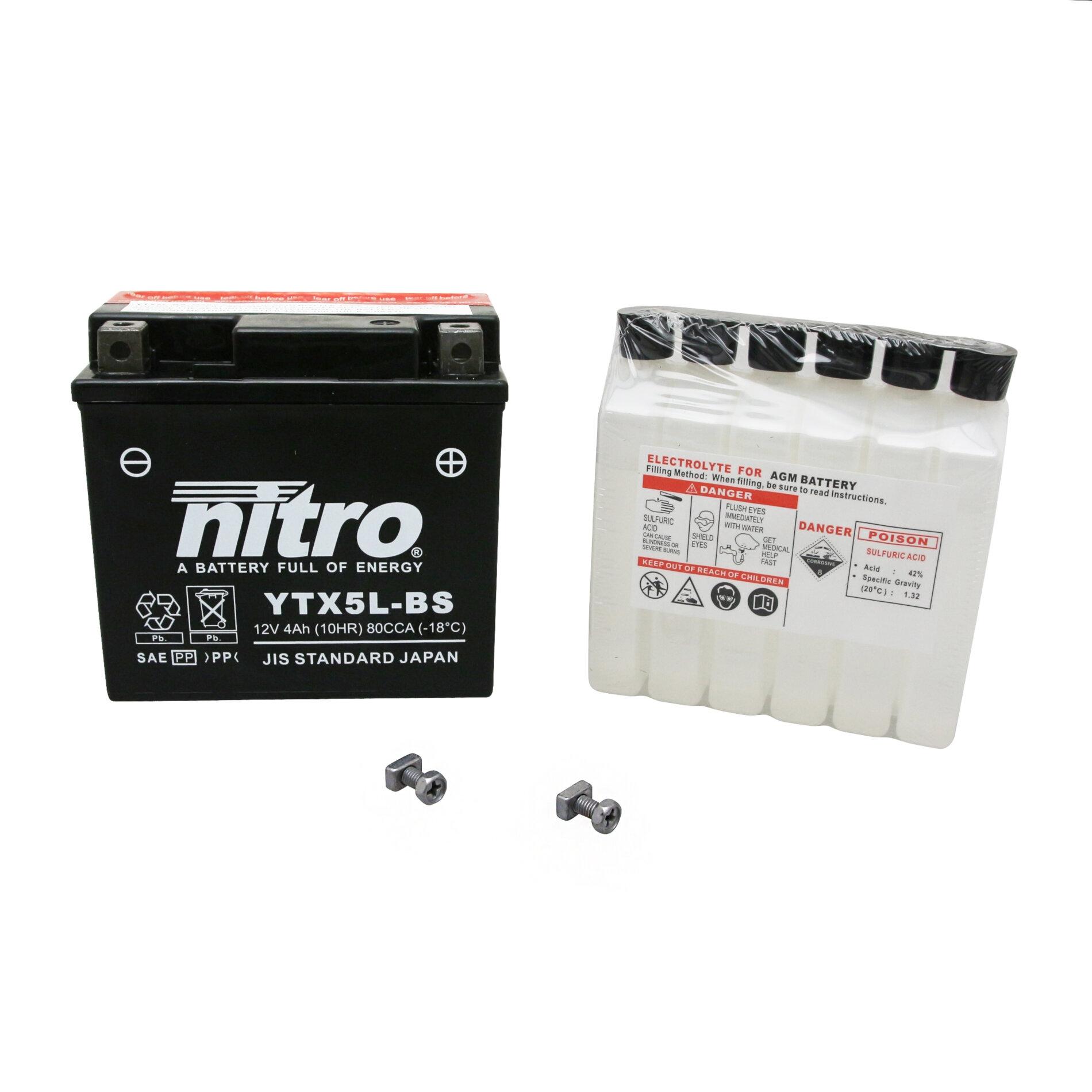 Batterie Nitro 12V 4 Ah YTX5L-BS