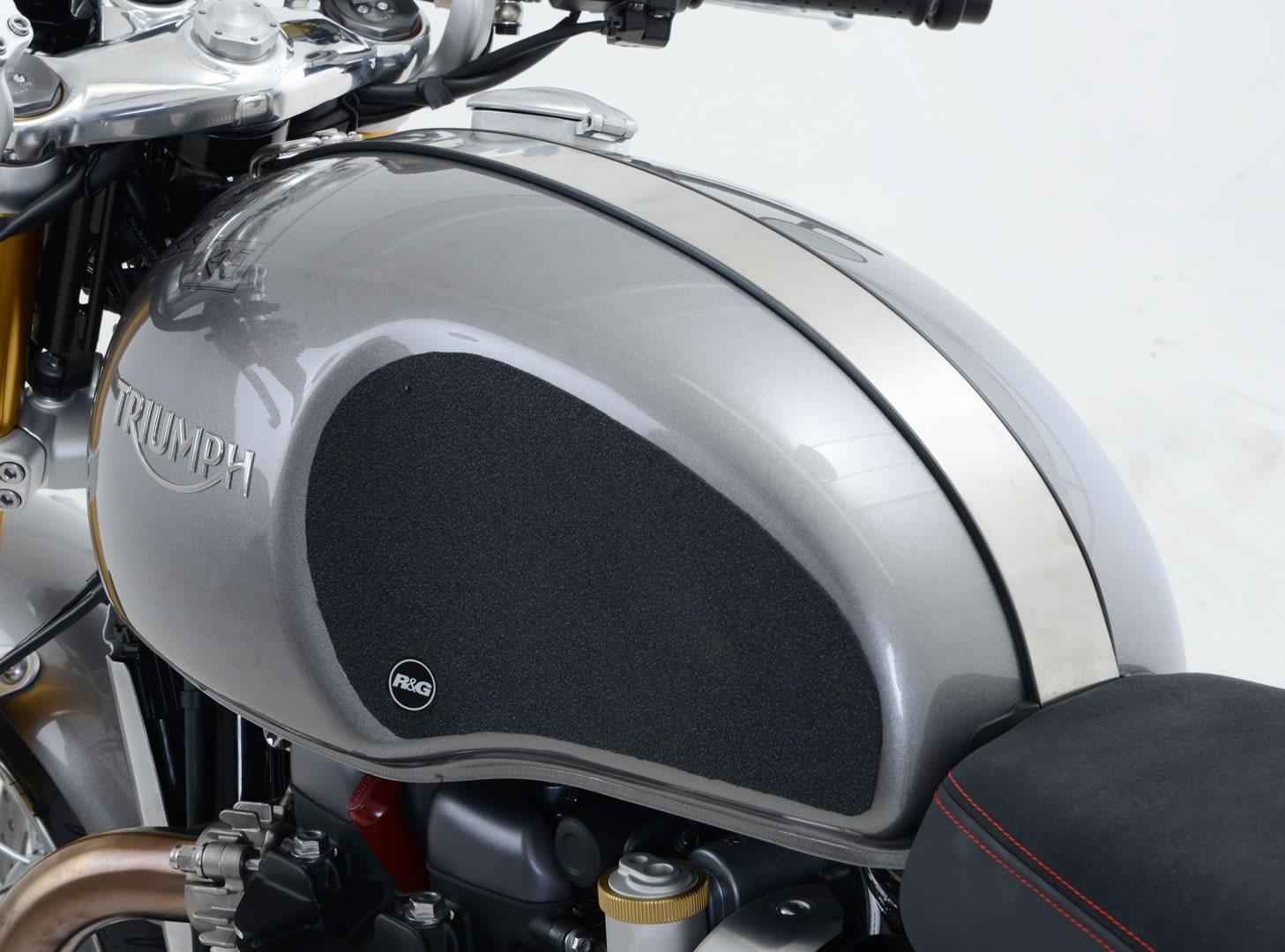 Kit grip de réservoir R&G Racing translucide Triumph Thruxton 1200 16-