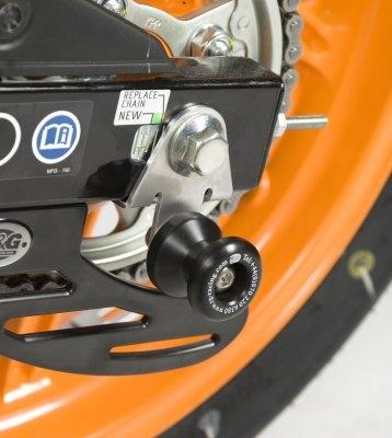 Diabolos de bras oscillant R&G Racing noir sur platine Honda CBR 125 R
