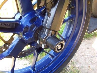 Tampons de protection de fourche R&G Racing noirs Aprilia RS 125 06-12