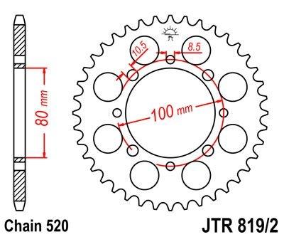 Couronne JT Sprockets Acier pas 520 41 dents - Pour Suzuki TU 250 X 98