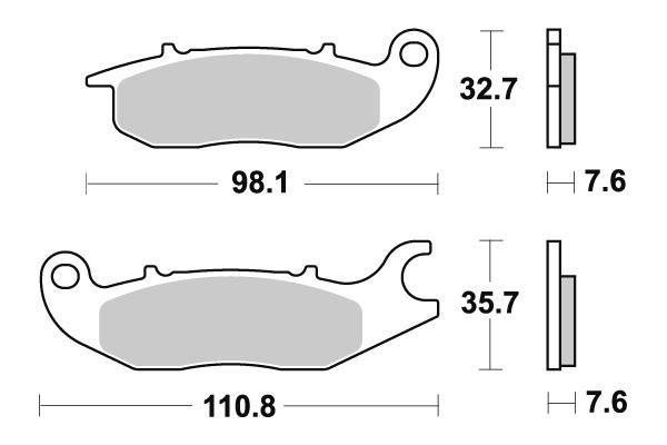 Plaquettes de frein SBS céramique 180HF