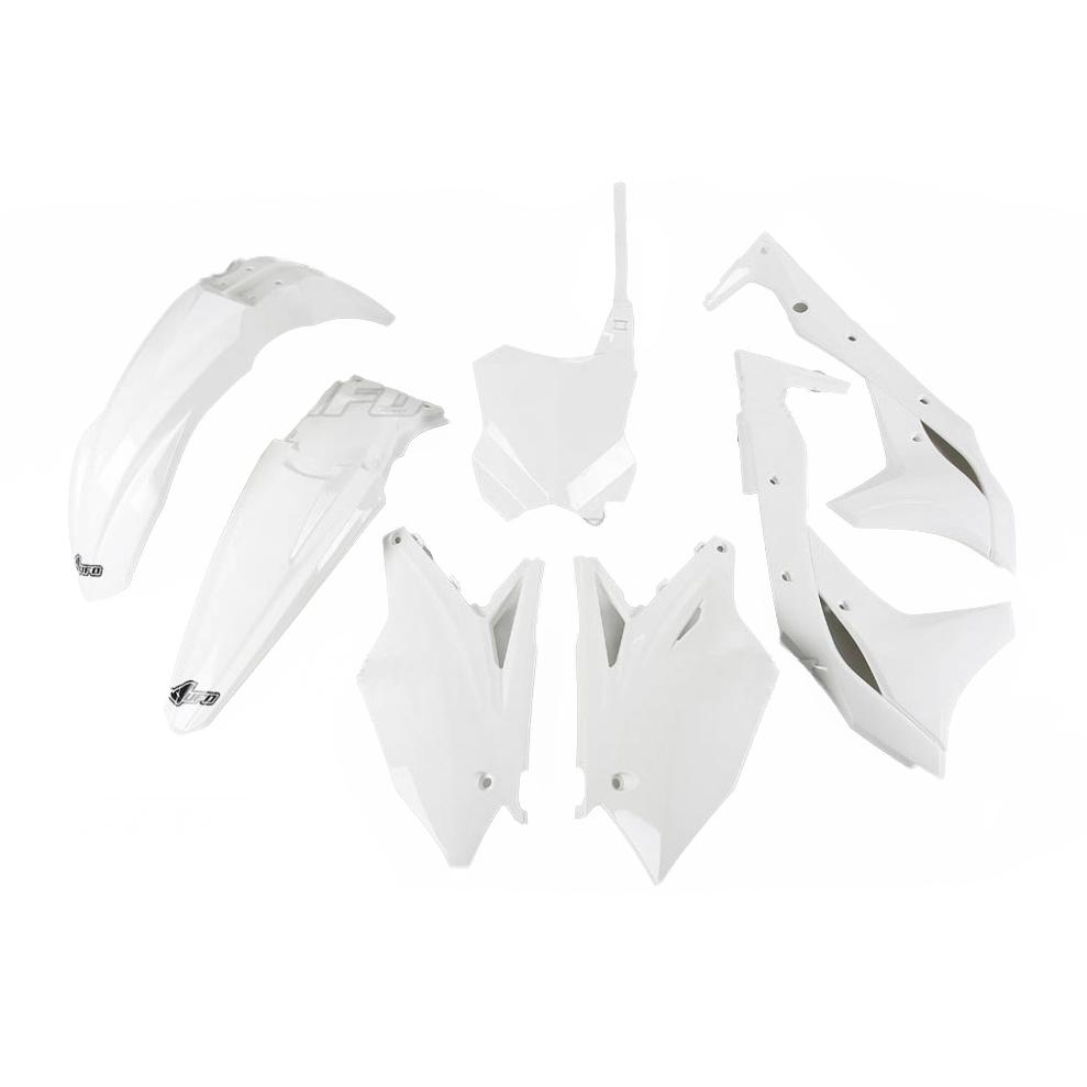 Kit plastique UFO Kawasaki 250 KX-F 2018 blanc