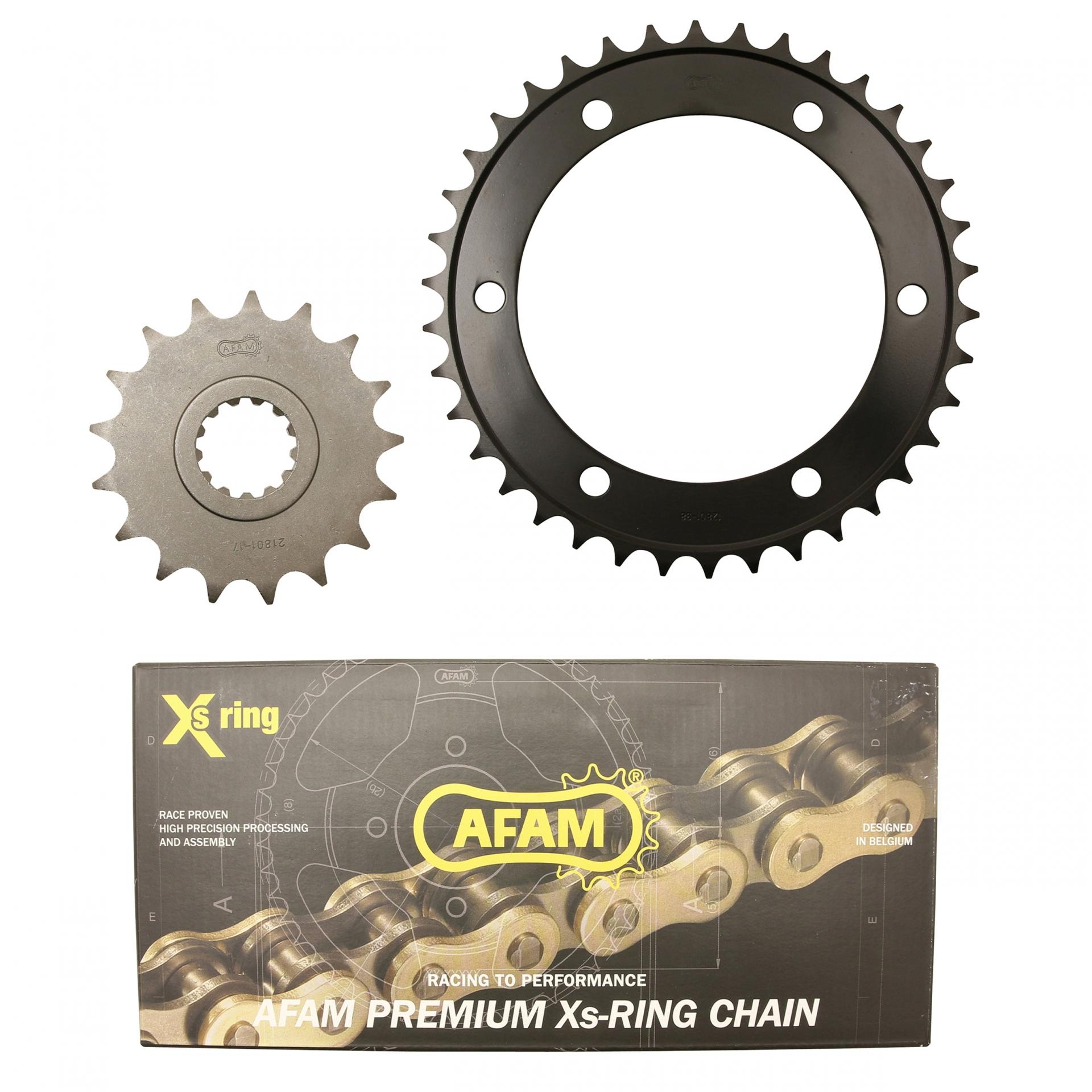 Kit chaîne Afam 38x17 Yamaha 1300 XJR 98-01