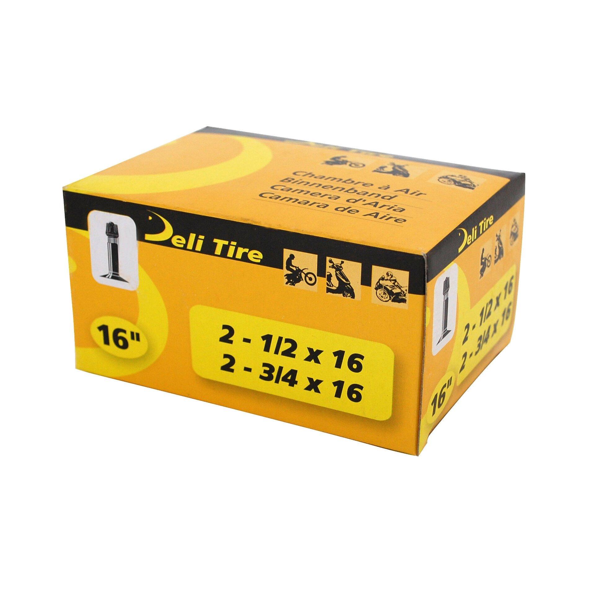Chambre à Air 16 2 3/4x16 Vs Deli valve Droite