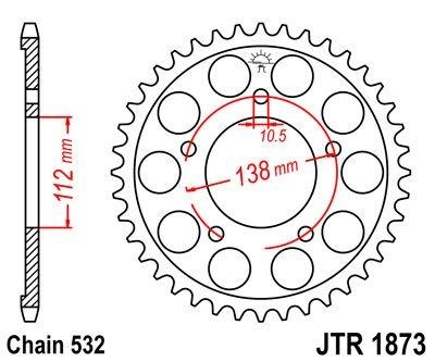 Couronne JT Sprockets Acier pas 520 48 dents - Pour Yamaha YZF-R6 99-0
