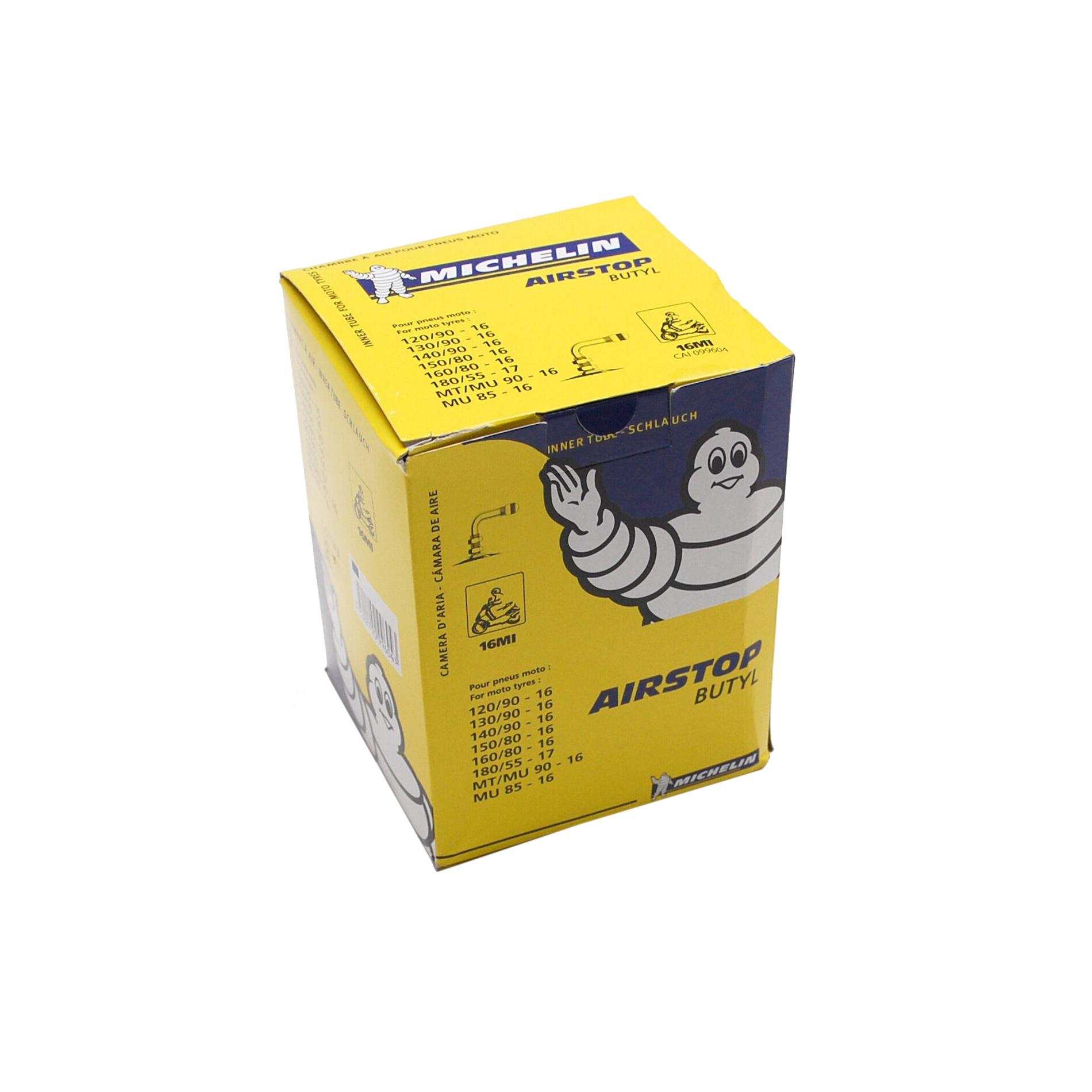Chambre à air Michelin Street 140/90-16 valve coudée à 90