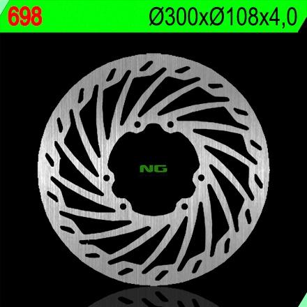 Disque de frein avant NG Brake Disc D.300 Derbi SENDA 125 04-06 - 698