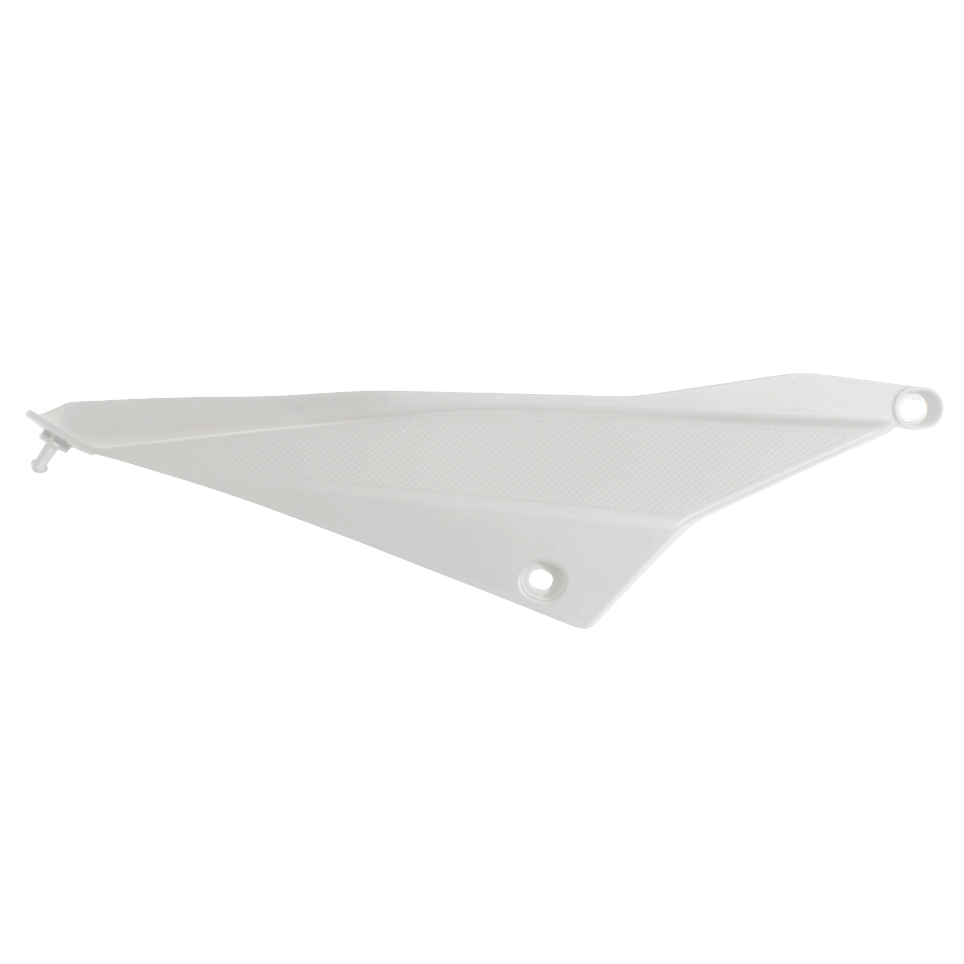 Cache 1Tek Origine arrière droit blanc brillant Derbi Senda DRD 2011-