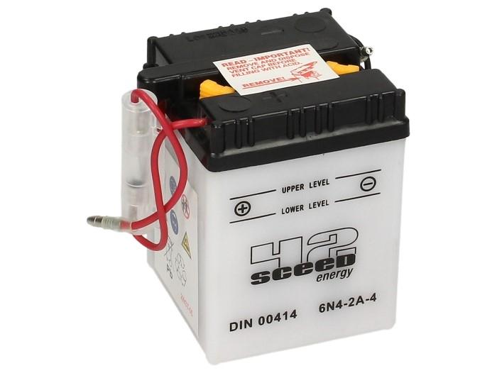 Batterie Sceed 42 6N4-2A-4 6V 4Ah avec pack acide
