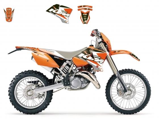 Kit déco Blackbird Dream Graphic 3 KTM 125 SX 01-04 orange
