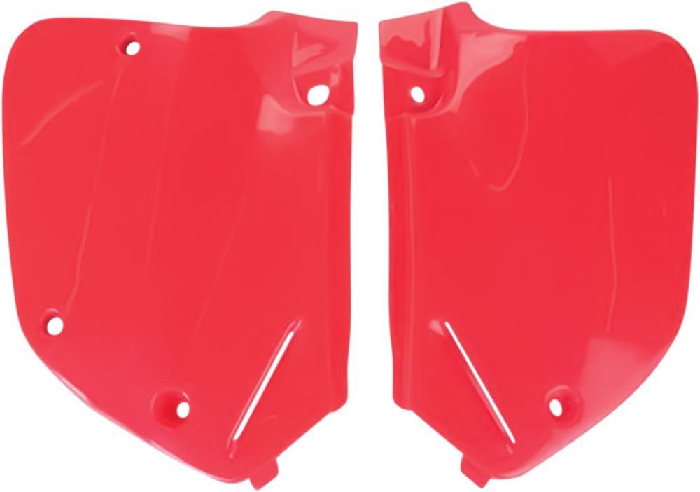 Plaques numéro latérales UFO Honda CR 250R 92-94 rouge (rouge CR 92-99