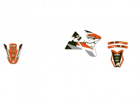 Kit déco Blackbird Dream Graphic 3 KTM 300 EXC 98-00 orange