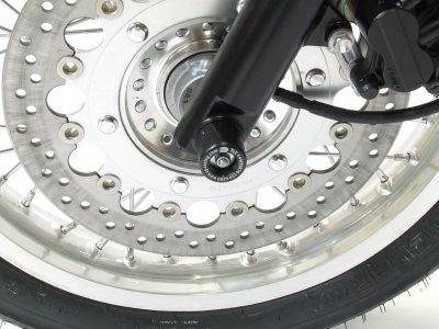 Tampons de protection de fourche R&G Racing noirs Triumph Thruxton 900