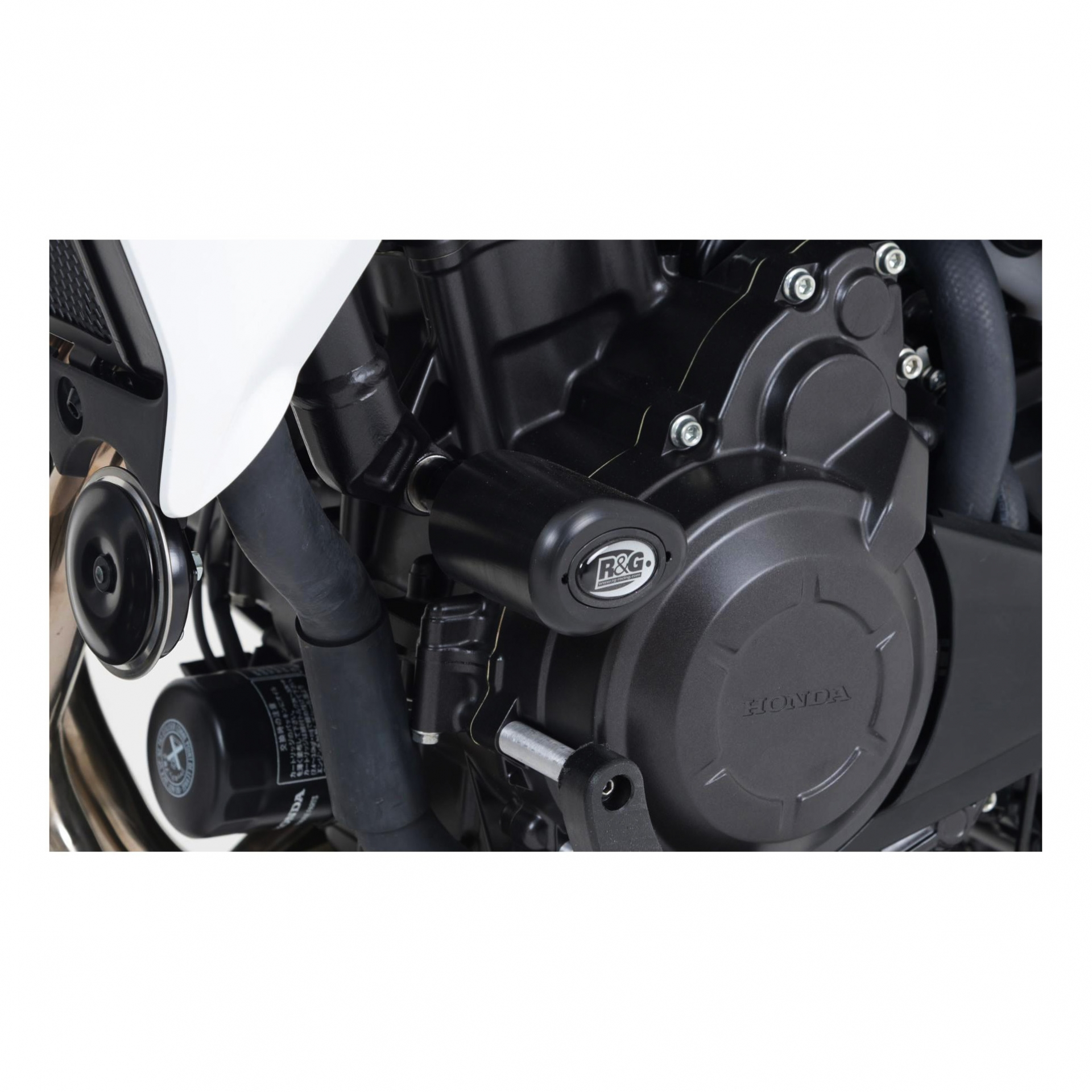 Tampons de protection R&G Racing Aero noir Honda CB 500 X 13-18
