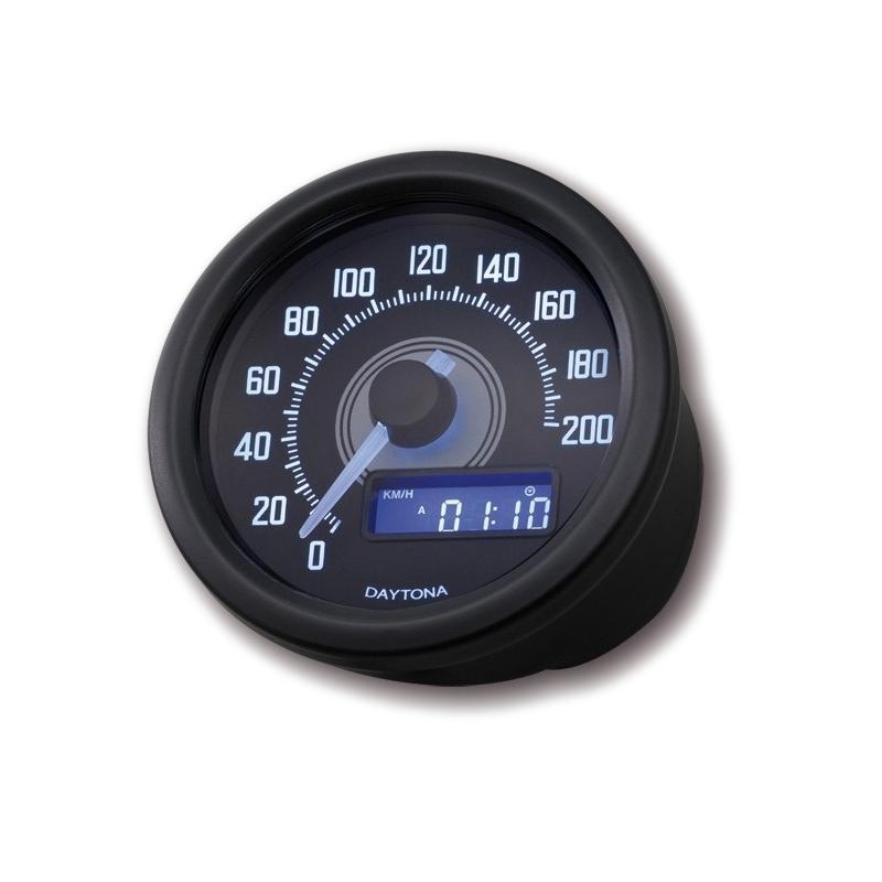 Compteur de vitesse Dayton Velona 200km/h noir