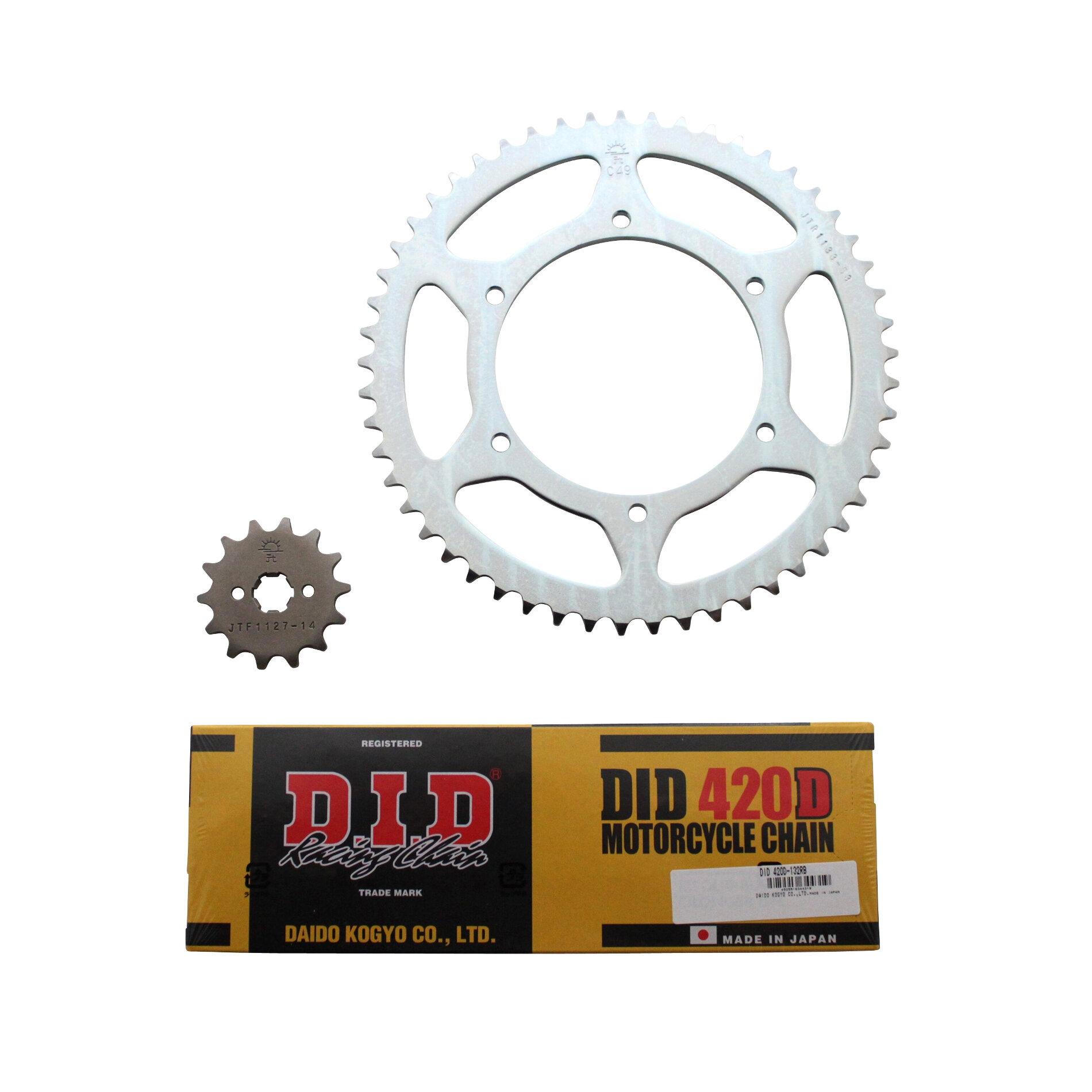 Kit chaîne DID acier Derbi 50 GPR/ Nude 04-05
