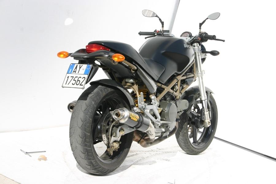 Silencieux double MIVV GP carbone Ducati Monster 600 99-01