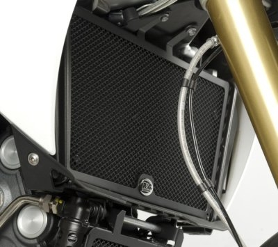 Protection de radiateur noire R&G Racing Aprilia Dorsoduro 1200 11-13