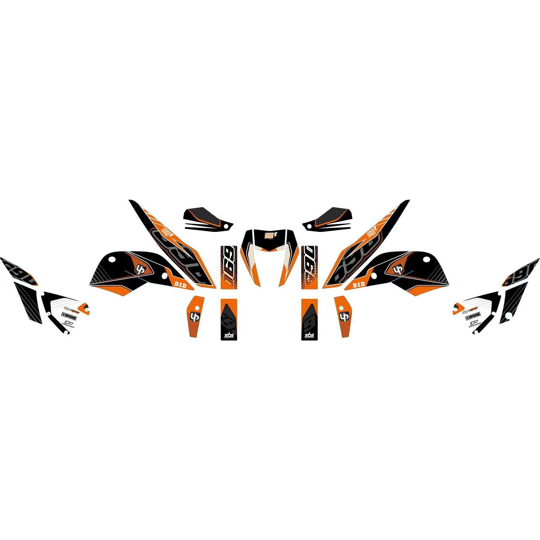 Kit déco Up Maximize noir / orange KTM Duke 690 10-15