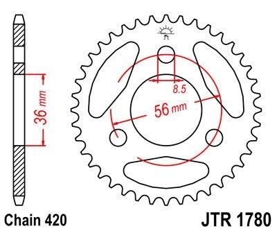Couronne JT Sprockets Acier pas 420 28 dents - Pour Suzuki JR 50 85-06