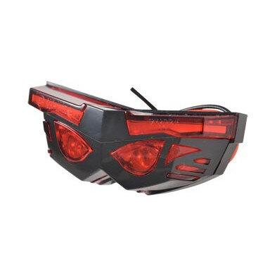 Feu arrière Mask universel à LED rouge/noir