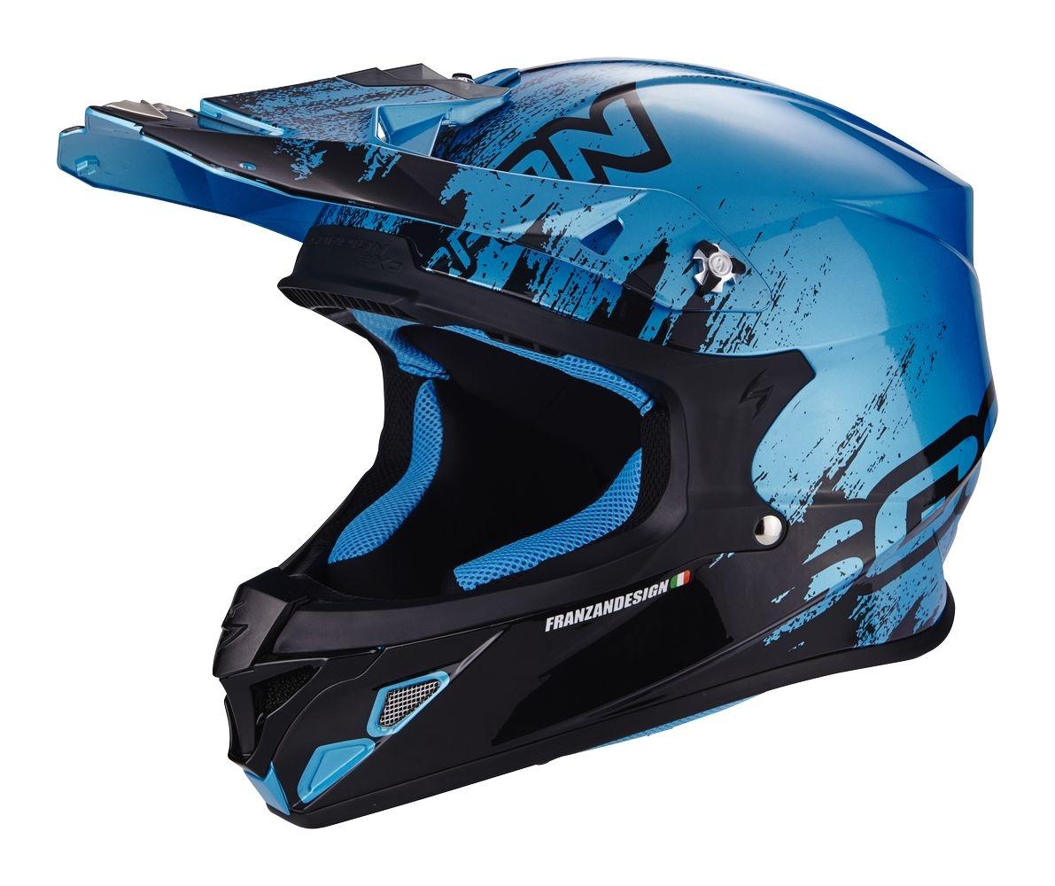 Casque cross Scorpion VX-21 AIR MUDIRT noir/bleu - XS