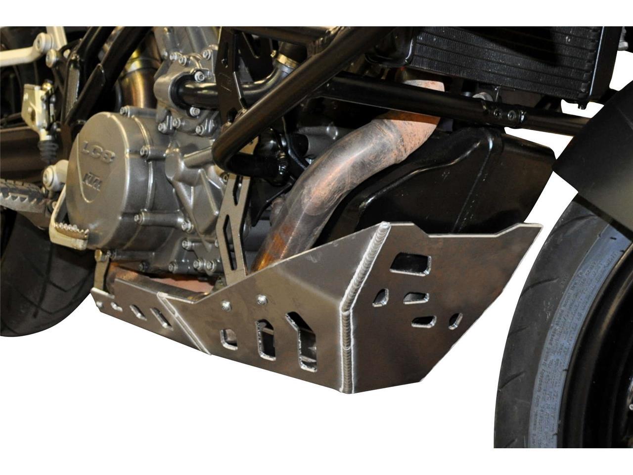 Sabot moteur Bihr aluminium gris pour KTM 990 SMT 11-14