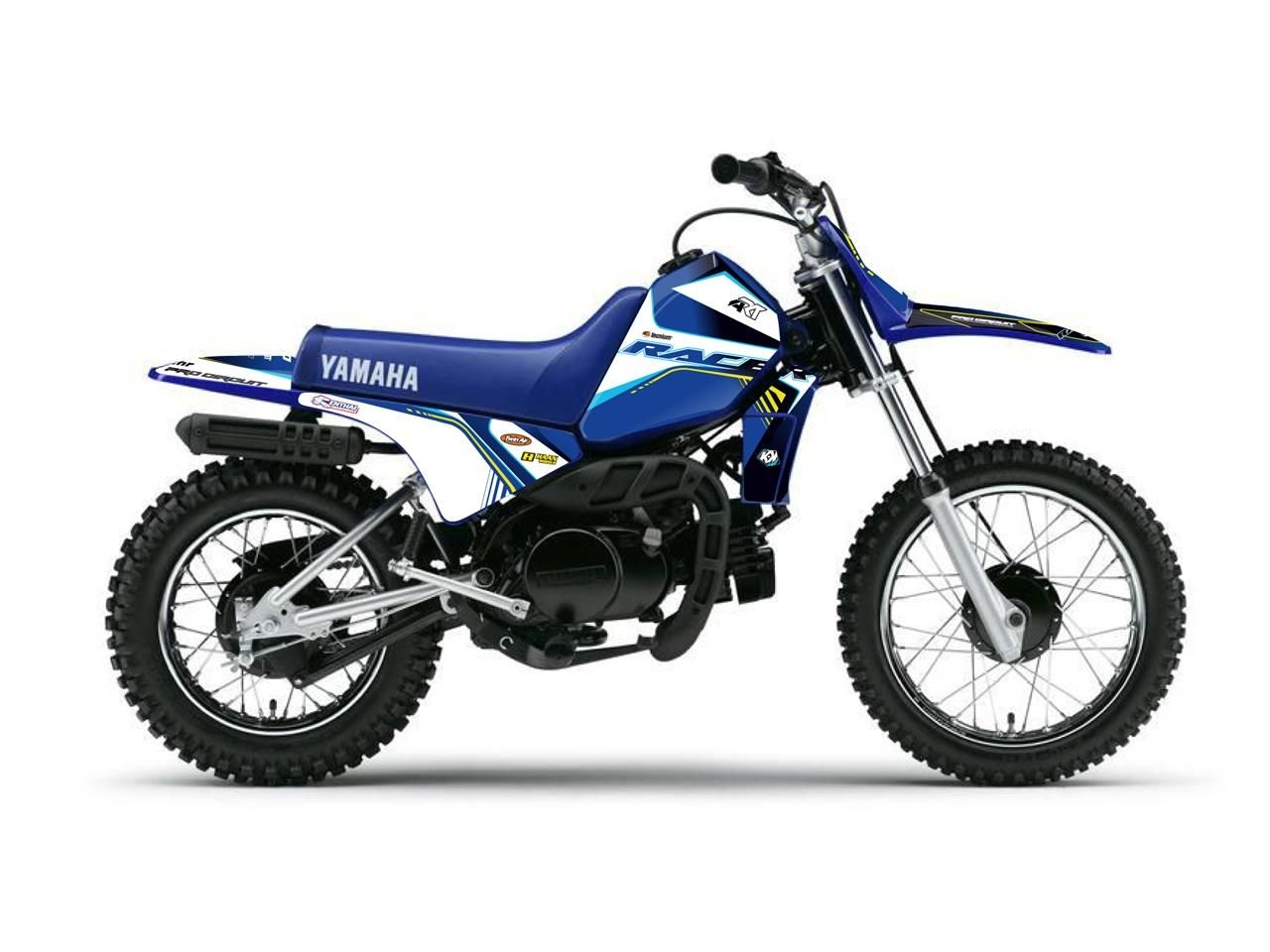 Kit déco Kutvek Racer Yamaha 80 PW 96-14 bleu