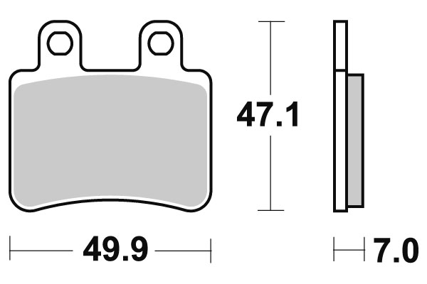 Plaquettes de frein SBS céramique 167HF