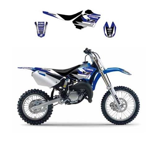 Kit déco Blackbird Dream Graphic 3 Yamaha 80 YZ 93-01 bleu