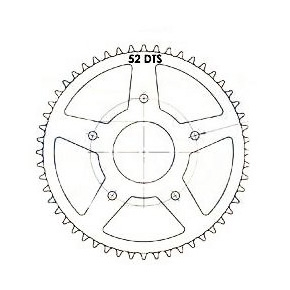 Kit chaîne 11x52 pas 420 Peugeot XP7 / XR7 / NK7 / XPS 05-08