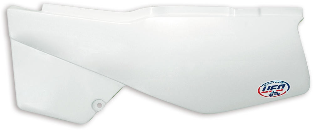 Plaques numéro latérales UFO Type Yamaha 600 XT 87-90 blanc