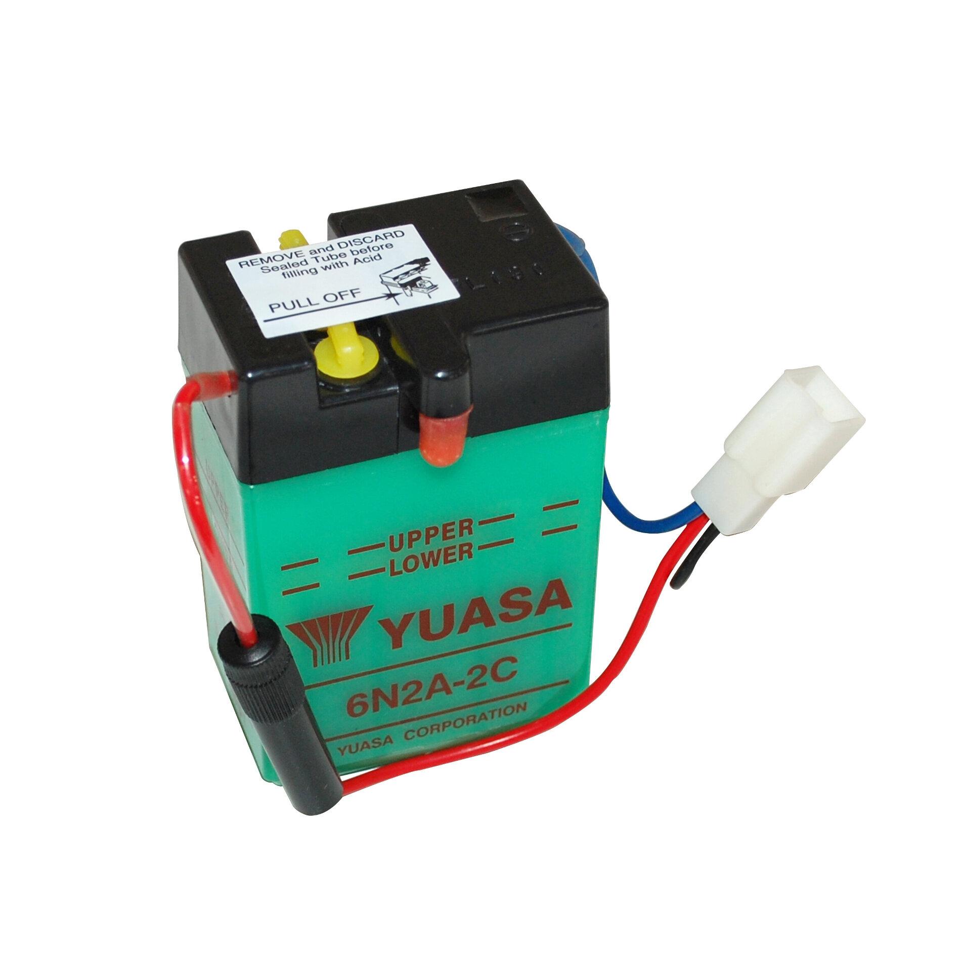 Batterie Yuasa 6N2A-2C 6V 2Ah