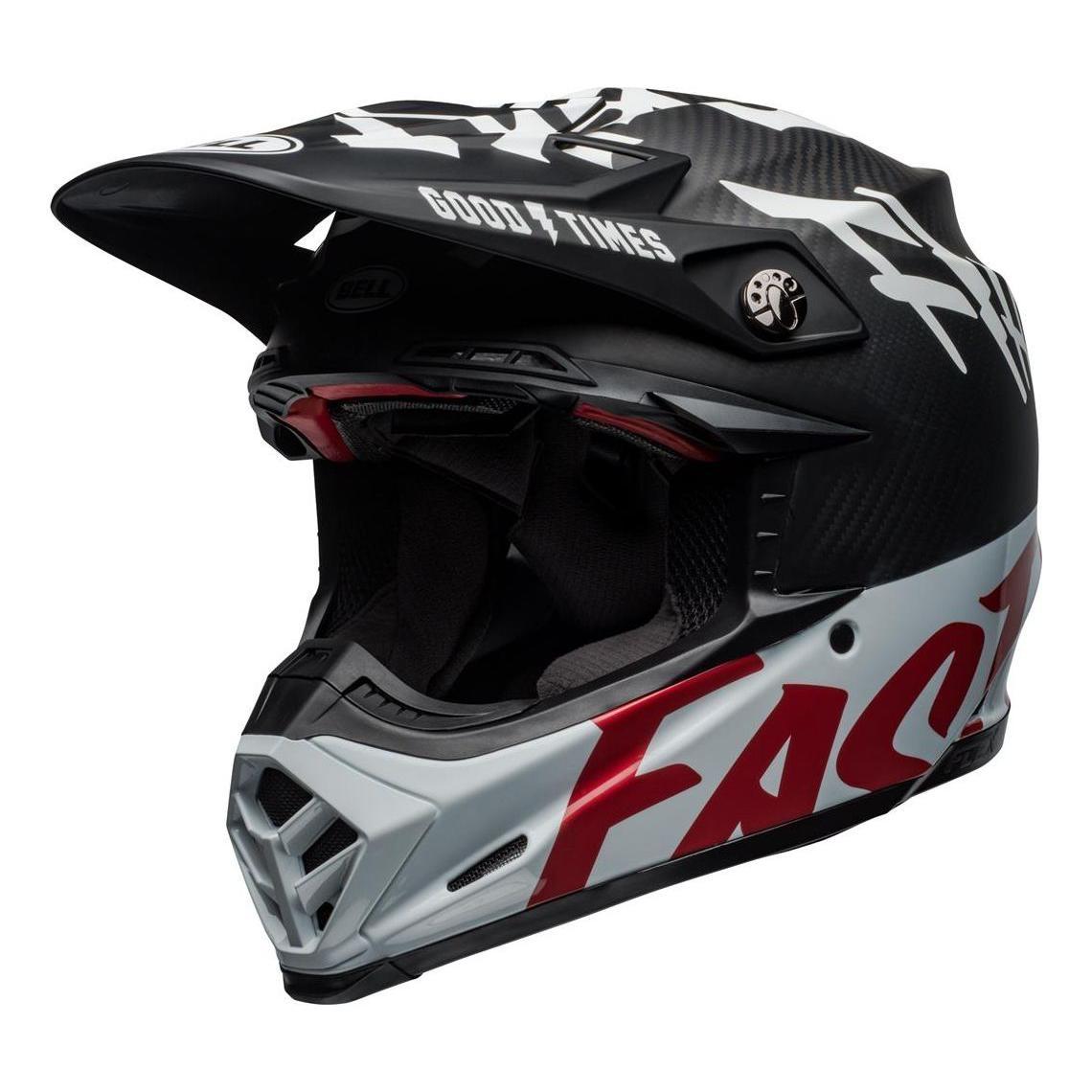 Casque cross Bell Moto-9 Flex Fasthouse WRWF noir/blanc/rouge - XS