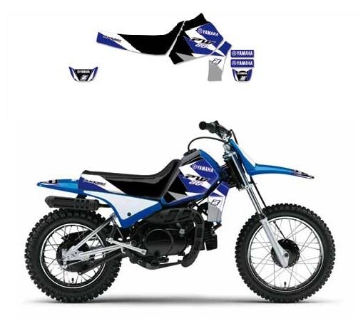 Kit déco Blackbird Dream Graphic 3 Yamaha 50 PW 90-17 bleu
