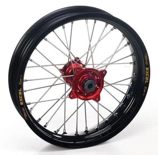 Roue arrière Haan Wheels/Excel 14x1,60 Yamaha 80 YZ 93-01 noir/bleu