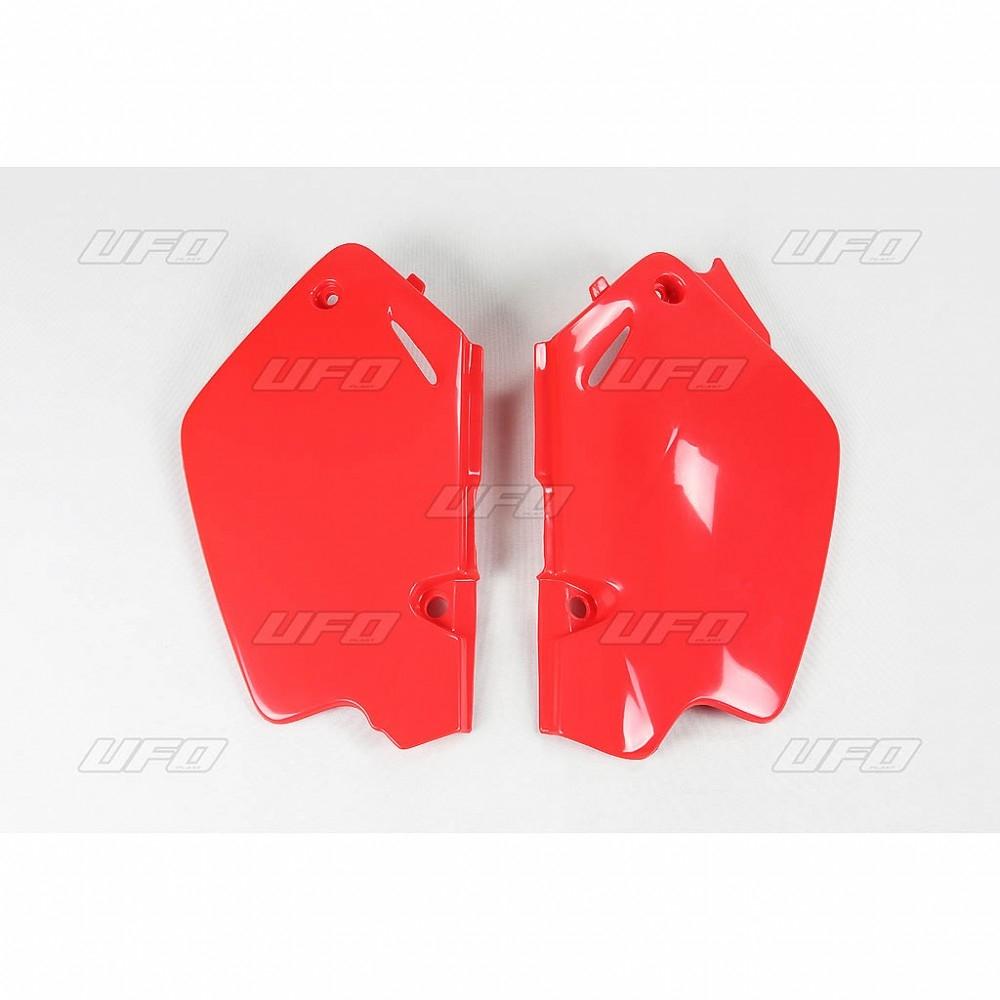 Plaque numéro latérale UFO Honda CR 80R 96-02 rouge (rouge CR 00-12)