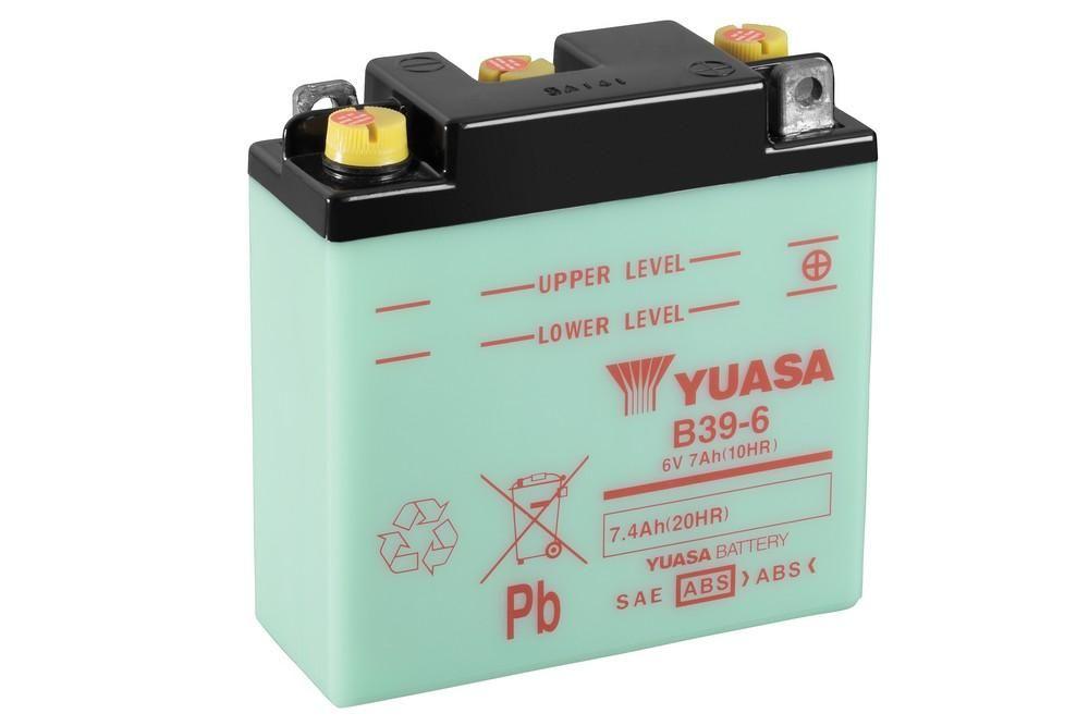 Batterie Yuasa B39-6 6V 7Ah Avec entretien