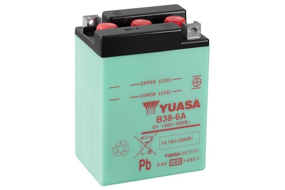Batterie Yuasa B38-6A 6V 13Ah
