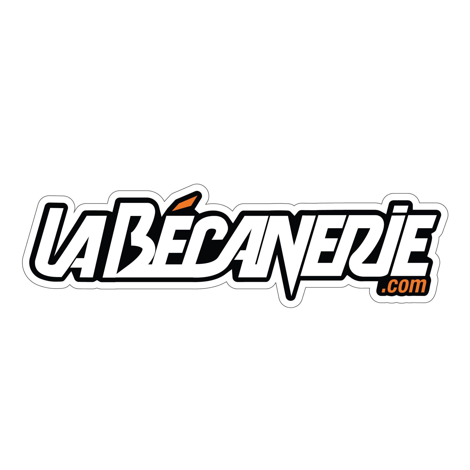 Autocollant La Bécanerie 12.5 cm noir / orange / transparent
