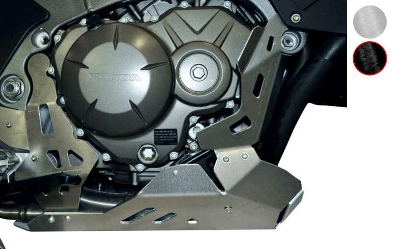 Sabot moteur Bihr aluminium noir pour Honda Crosstourer 1200 12-14