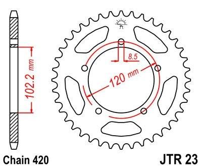 Couronne JT Sprockets Acier pas 420 47 dents - Pour Aprilia RS 50 99-0